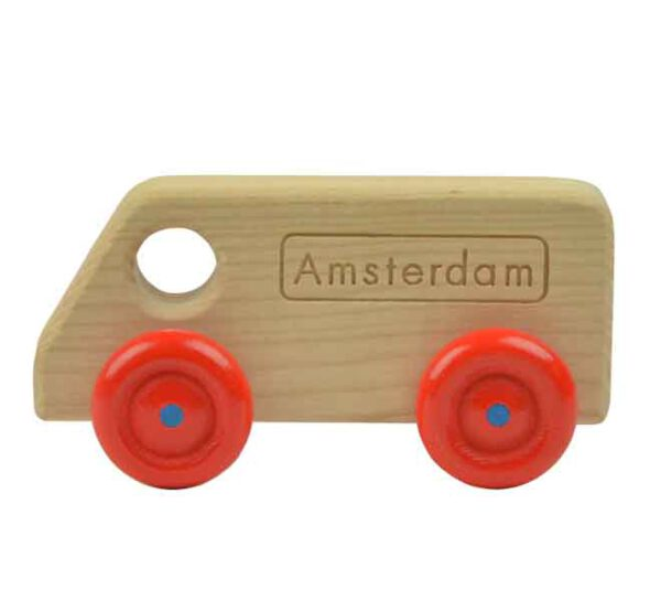 Amsterdams houten speelgoed auto