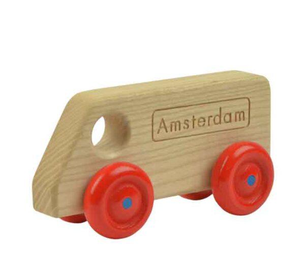 Busje Amsterdam houten auto