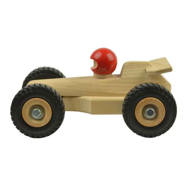 Houten speelgoed raceauto amsterdams hout