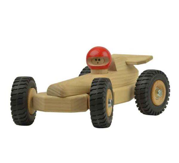 Houten speelgoed raceauto