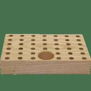 Potlodenblok voor 40 potloden met gat voor puntenslijper